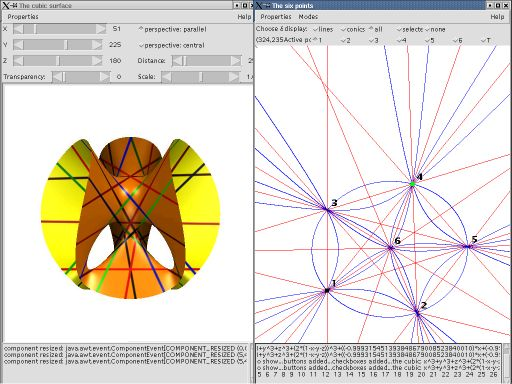 Screenshot of the cubic surface illustration software by Oliver Labs